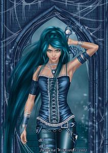 guerrera azul con diabetes
