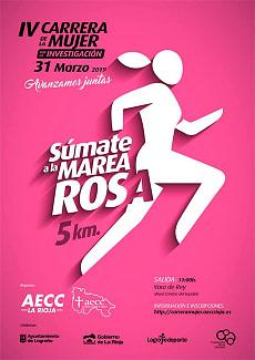 cartel cuarta carrera de la mujer logroño