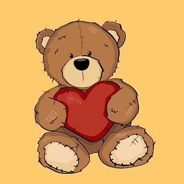 osito de peluche abrazando un corazón