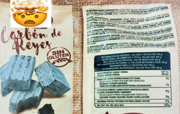 carbón etiqueta nutrientes