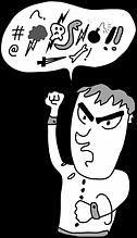persona enfadada gritando mala comunicación