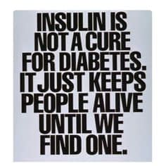la insulina no es la cura de la diabetes solo un remedio