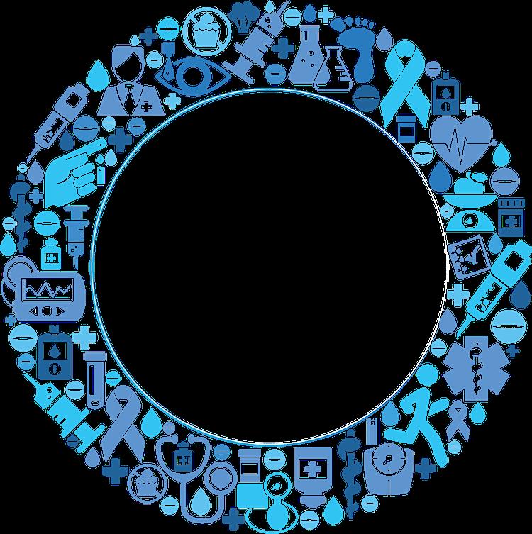 circulo azul diabetes