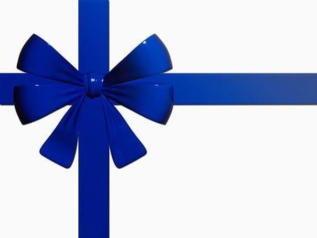 lazo azul regalo navidad