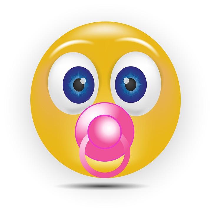 bebe emoticono con chupete